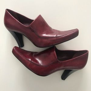 Franco Sarto Women's Loafer Pump, Dark Red, Sz 7